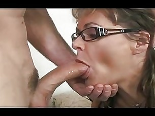 fuck glasses anal milf blowjob shaved brunette hardcore squirting