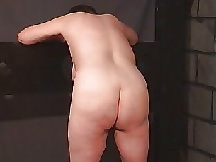 mature boss bdsm slave bbw brunette punished nude