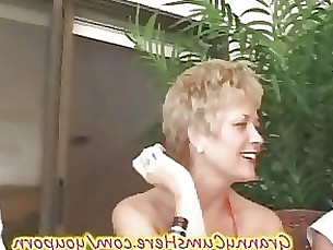 ass granny ladyboy licking mature outdoor party rimming