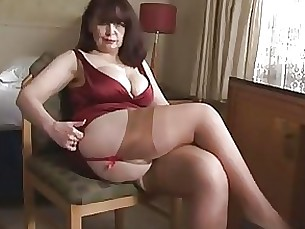 striptease playing tease big-tits lingerie mature panties
