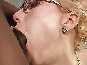 anal ass blonde big-cock glasses interracial juicy milf stocking