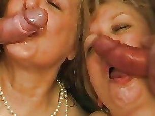 bbw double-penetration milf mammy anal mature group-sex blonde