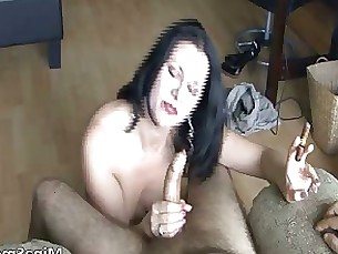 brunette fetish juicy milf redhead smoking