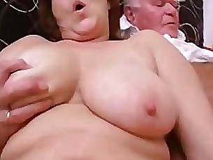 threesome mature granny double-penetration daughter