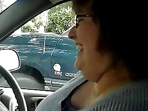 wife car amateur mature bbw handjob