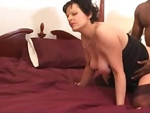 big-cock interracial mammy pregnant threesome wife